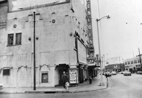 Corner view of the Lincoln Theatre