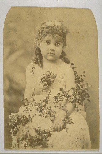 [Portrait of Louise Taber as child. Photograph by Isaiah West Taber. Removed from mount.]