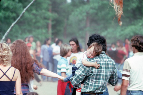 People participating in the bear dance at the Janesville Bear Dance--1982