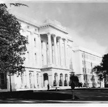 Exterior view of the completed annex office extension on the east side of the California State Capitol building