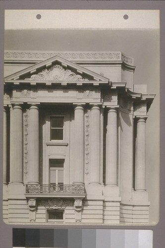 [Pediment and colonnade. East facade?]