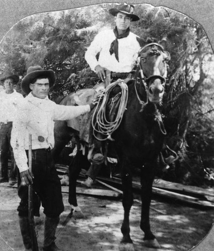 Mexican American on horseback