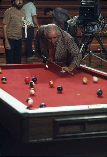 Calisphere Willie Mosconi Playing Billiards At Challenge Of The - Mosconi pool table