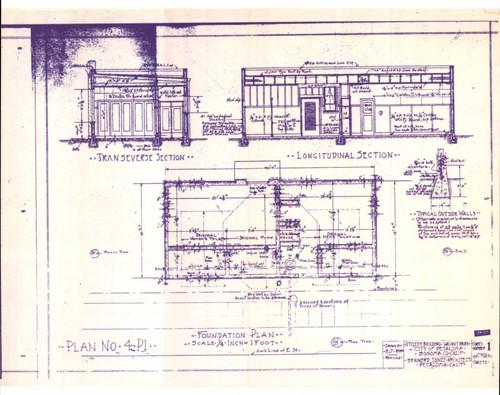 Calisphere blueprints of the walnut park utility building drawn by blueprints of the walnut park utility building drawn by brainerd jones petaluma california malvernweather Choice Image