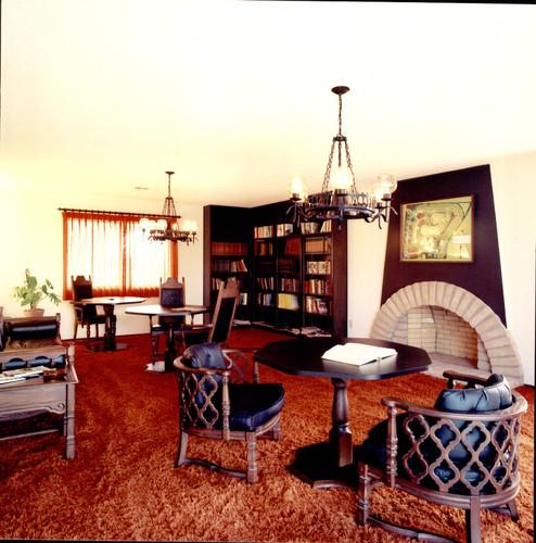 Interior Of Valle Vista Clubhouse, Santa Rosa, California, Ca.1971