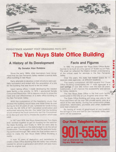 Van Nuys State Building opening, 1982 (side 2)