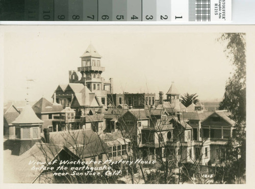 Winchester Mystery House Before the 1906 Earthquake
