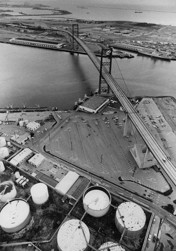 Aerial view of San Pedro Harbor