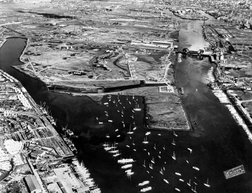 Aerial view of Los Angeles Harbor