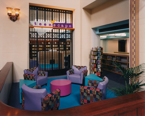TeenScape Department Reading Lounge Los Angeles Public Library