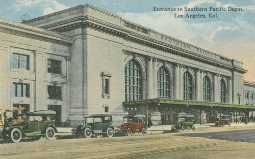 Entrance to Southern Pacific Depot, Los Angeles, Cal