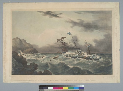 Wreck of Steamship Union on the coast of lower California, July 5th, 1851