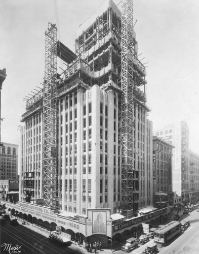 Eastern Columbia Building during construction