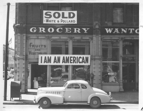 Following evacuation orders, this store, at 13th and Franklin Streets, was closed. The owner, a University of California graduate of