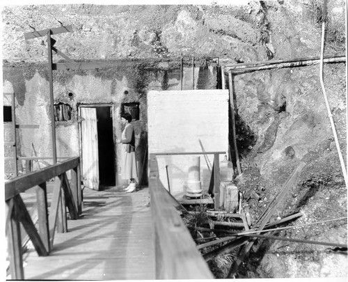 Old geothermal power plant at The Geysers, 1966
