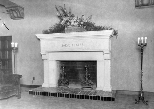 Fireplace inside the Scottish Rite Freemasonry building