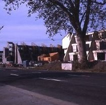 View showing the construction of the Riverfront Plaza Condominiums at 200 P Street between P and Q Streets