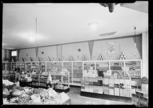 Displays in grocery stores, Southern California, 1932