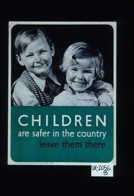 Children are safer in the country, leave them there