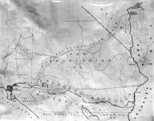 Colorado River Aqueduct map