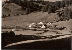Coleman Valley from south to north, with school and Illia House