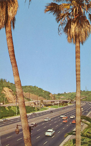 Cahuenga Pass and Hollywood Freeway, 1950s