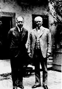 Robert A. Millikan with Niels Bohr