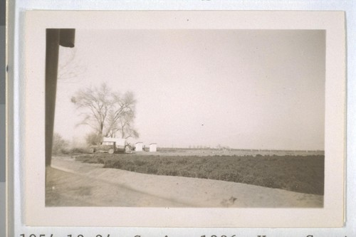Spring, 1936, Kern County. [Distant view of public toilets shown in picture #23]