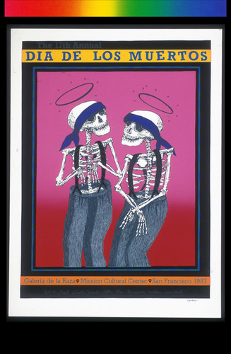 The 17th Annual Dia de los Muertos, Announcement Poster for