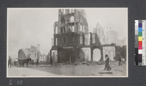 Ruins of the Grand Hotel, April 20th, 1906