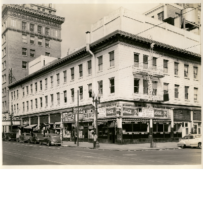Northwest corner of 12th and Franklin Streets, circa 1940