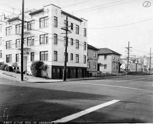 [Southwest corner of Lombard and Divisadero streets]