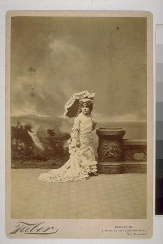 [Portrait of Louise Taber as child. Photograph by Isaiah West Taber.]