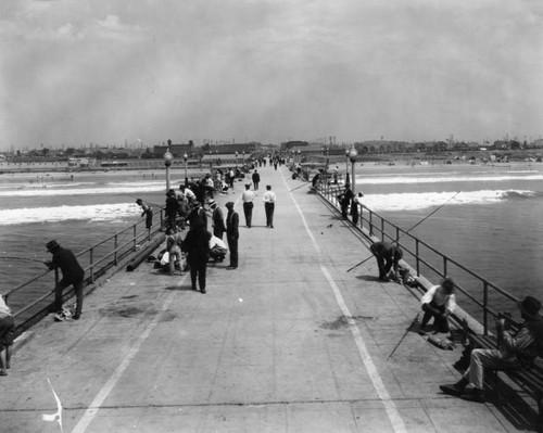 Calisphere: Fishing off the pier, Huntington Beach