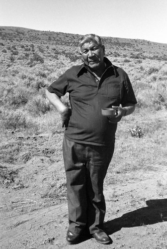 Frank Day at tobacco site near Susanville
