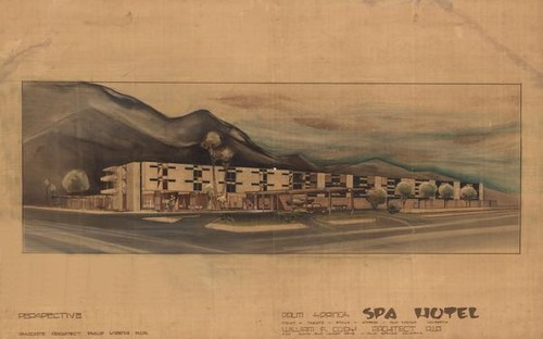 Palm Springs Spa Hotel - Perspective, 1960-62