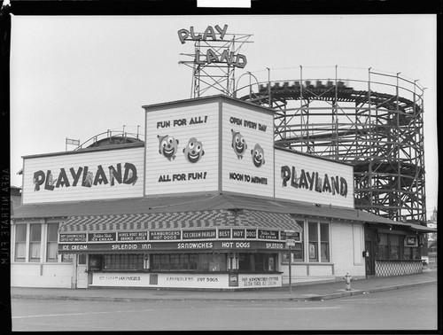 Playland At The Beach San Francisco Negative