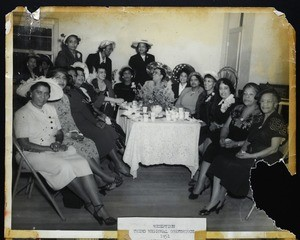 Women at the 3rd regional conference, COGIC, Galveston, 1951