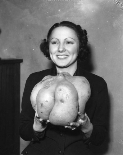 Woman with sweet potato
