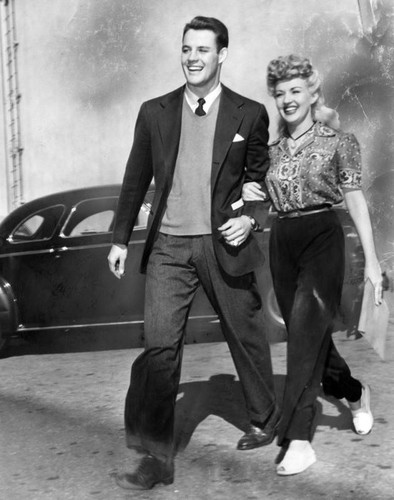 Betty Grable meets football player