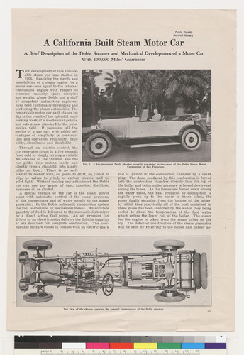 """A California Built Steam Motor Car"" (Western Machinery World, May, 1923)"