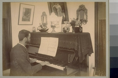 Music Hath Charms. Inst. Photo, 10 p.m., Apl. 88 [April 1888] George Reed