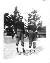 Analy Union High School football players from the class of 1924 in uniform fall of 1923