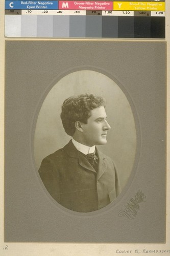 [Portrait of Herman George Scheffauer. Photograph by Coover and Rasmussen.]
