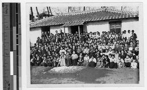Reverend Pospichal with his students, Chinnampo, Korea, 1933