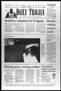 Daily Trojan, Vol. 145, No. 39, March 07, 2002