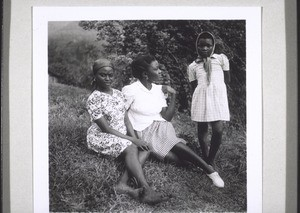 K. Lyanga, a teacher in Nyasoso, with her sisters