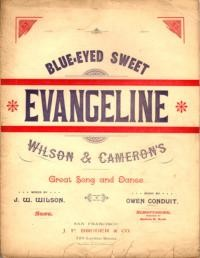 Blue-eyed sweet Evangeline : song and dance / words by J. W. Wilson ; music by Owen Conduit