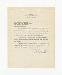 Letter from E. F. Barton to Isidore B. Dockweiler, December 19, 1941