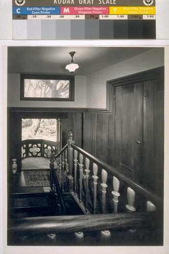 Chick house, Oakland: [interior, stairwell]